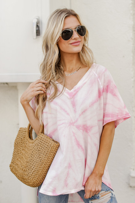 Pink - V-Neck Tee from Dress Up