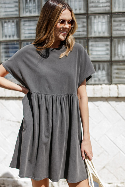 Charcoal - Vintage Washed Cotton Dress