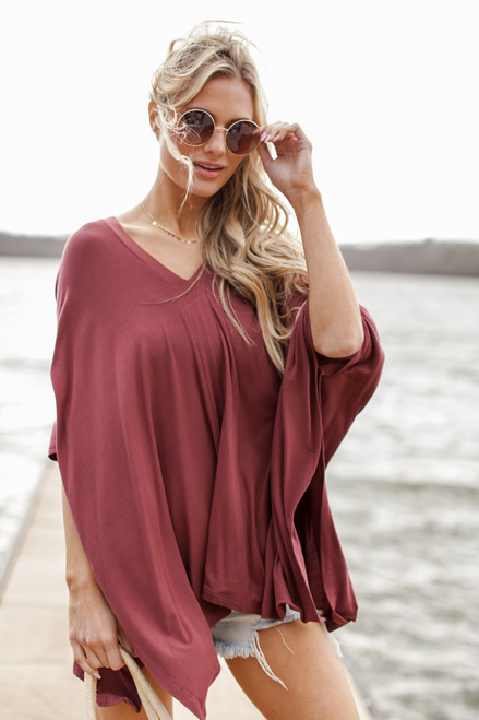 Marsala - Dress Up model wearing an Oversized Tunic