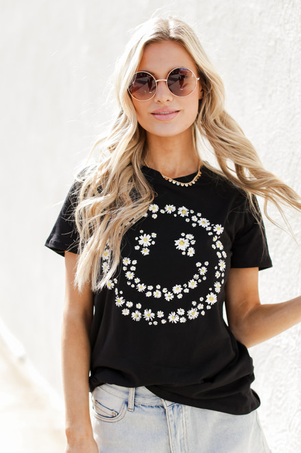 Black - Flower Child Graphic Tee