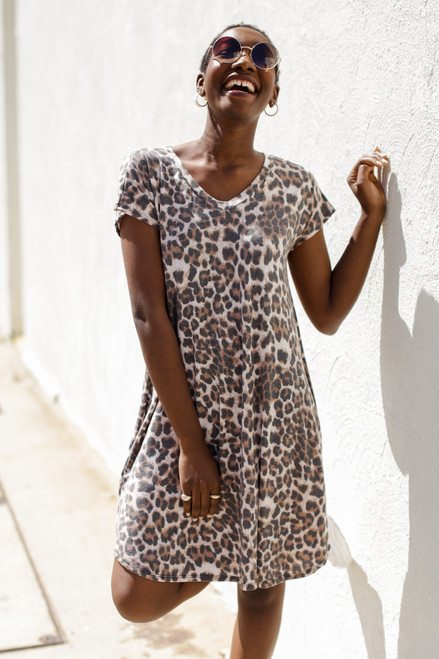 Leopard - T-Shirt Dress from Dress Up