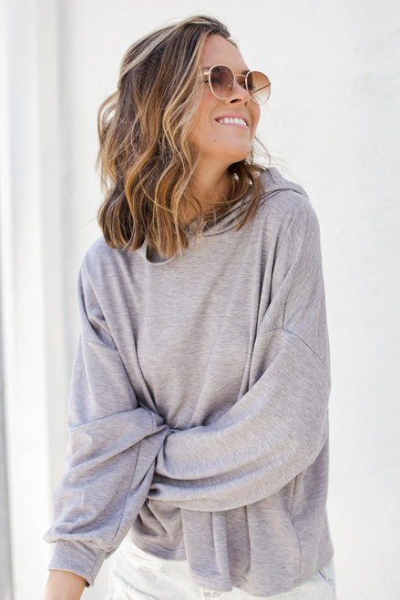 Heather Grey - Relaxed Hoodie from Dress Up