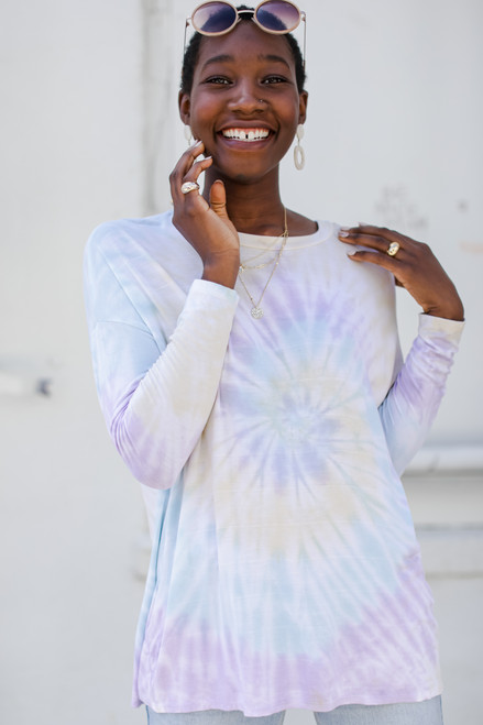 Multi - Tie-Dye Long Sleeve Tee