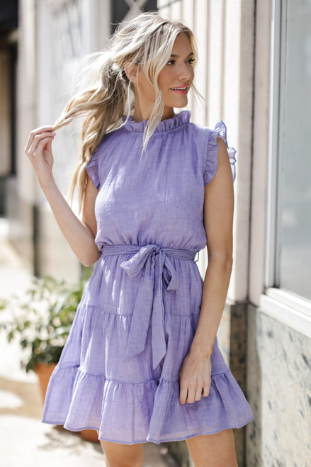 Periwinkle - Ruffled Tiered Mini Dress