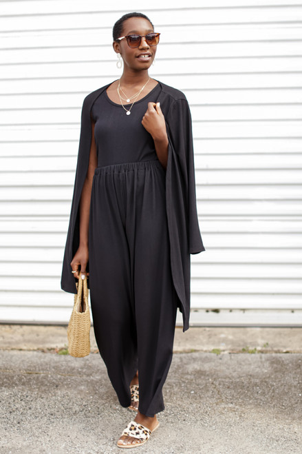 Black - Ribbed Cardigan from Dress Up