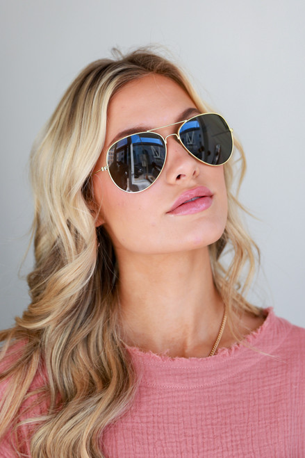 Gold - Polarized Aviator Sunglasses