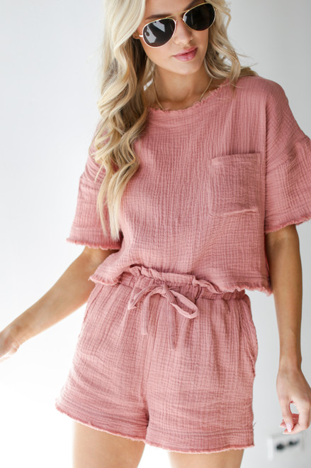 Blush - Linen Shorts from Dress Up