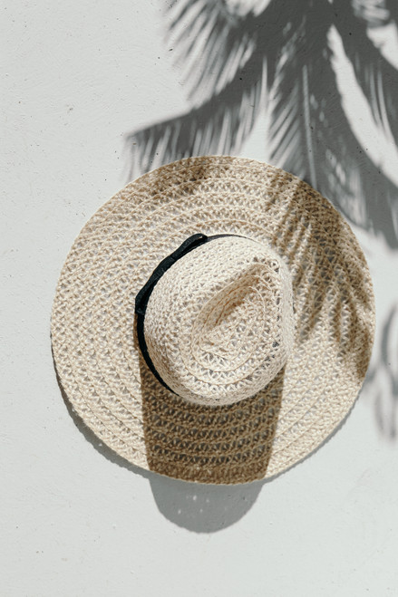 Ivory - Straw Fedora Hat from Dress Up