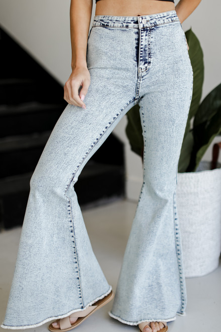 Denim - Acid Wash Flares from Dress Up