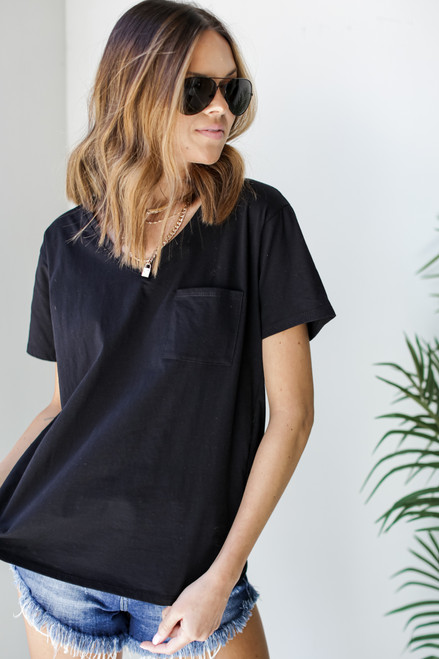 Black - Everyday Pocket Tee