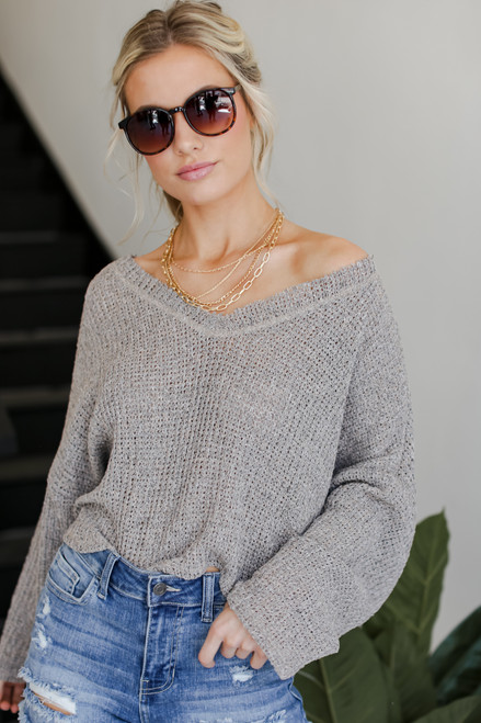 Taupe - Knit Top