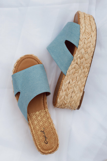 Light Blue - Platform Espadrilles from Dress Up