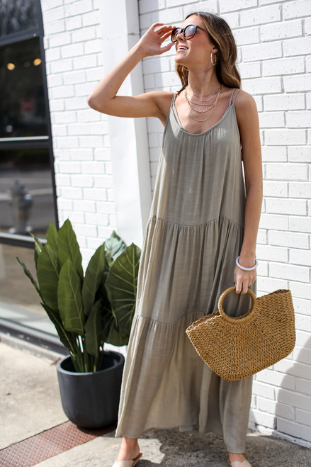 Olive - Tiered Maxi Dress from Dress Up