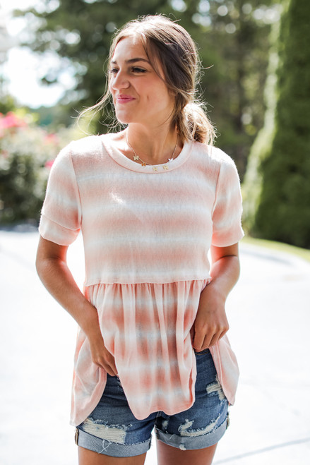 Coral - Sunkissed Washed Top from Dress Up