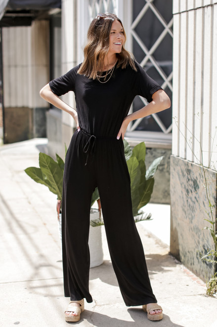 Black - Wide Leg Jumpsuit from Dress Up