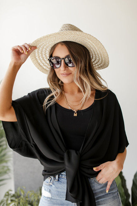 Black - Lightweight Kimono from Dress Up