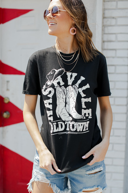 Black - Old Town Nashville Graphic Tee