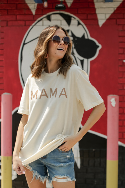 Ivory - Mama Graphic Tee from Dress Up