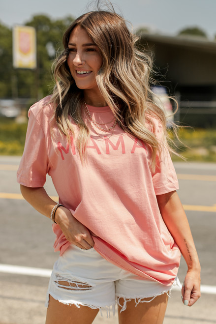 Peach - Mama Graphic Tee