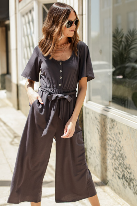 Charcoal - Wide Leg Jumpsuit from Dress Up