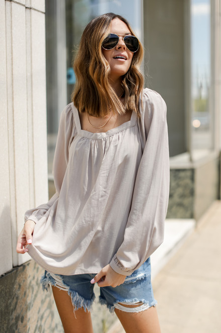 Ivory - Square Neck Blouse