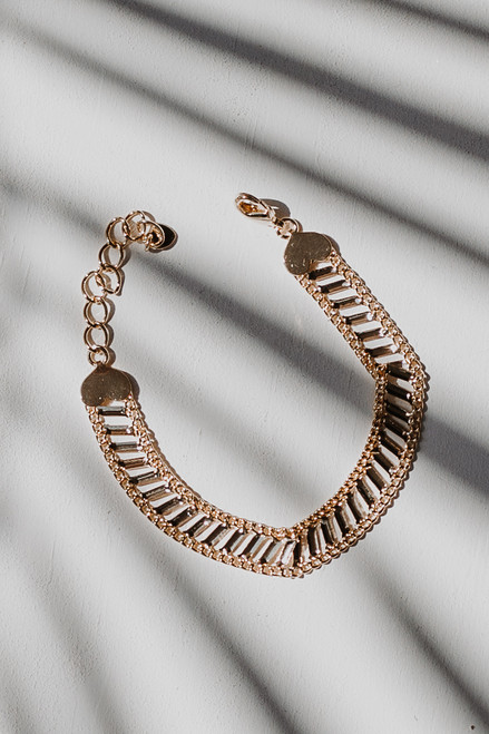 Gold - Heart Bracelet from Dress Up