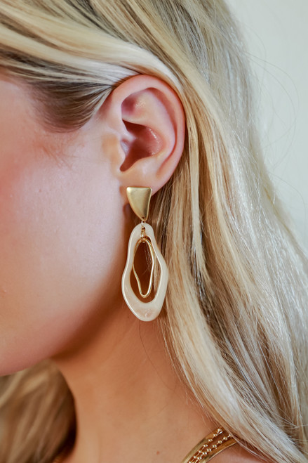 Gold - Statement Drop Earrings