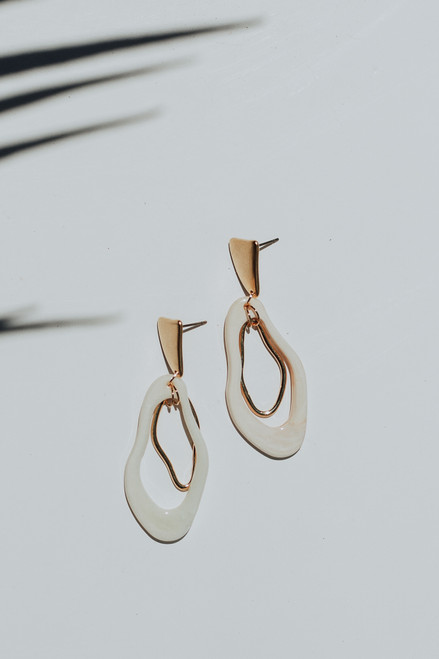Gold - Statement Drop Earrings from Dress Up