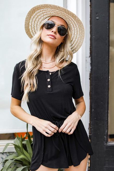 Black - Henley Romper from Dress Up