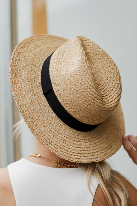 Natural - Straw Fedora Hat