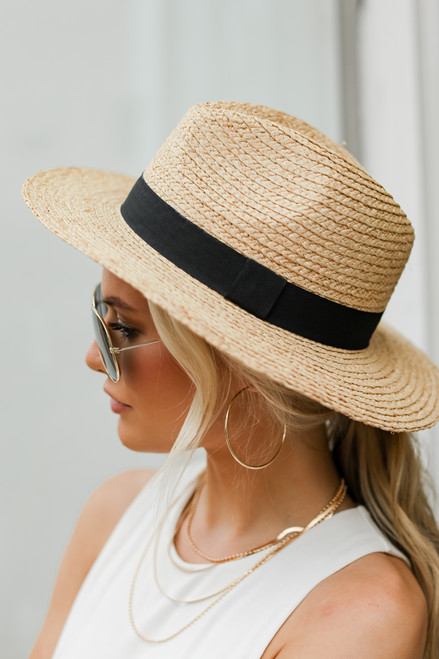 Natural - Straw Fedora Hat from Dress Up