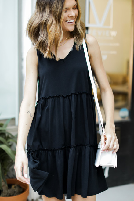 Black - Tiered Dress
