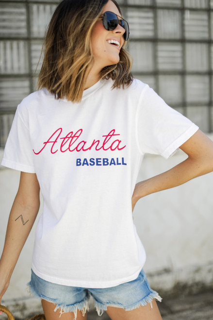 White - Atlanta Baseball Graphic Tee