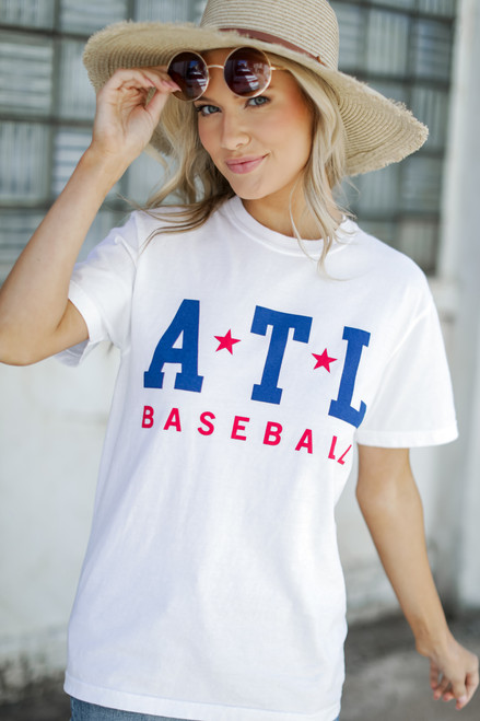 White - ATL Baseball Graphic Tee
