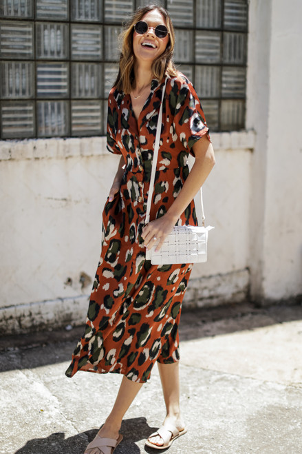 Rust - Leopard Maxi Dress