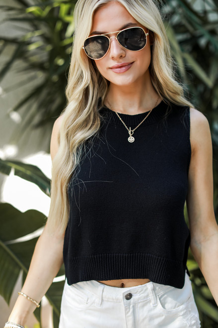 Black - Sweater Tank from Dress Up