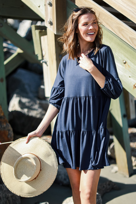 Navy - Tiered Dress from Dress Up