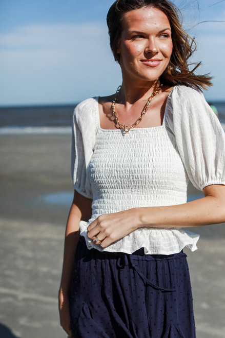 White - Puff Sleeve Top from Dress Up