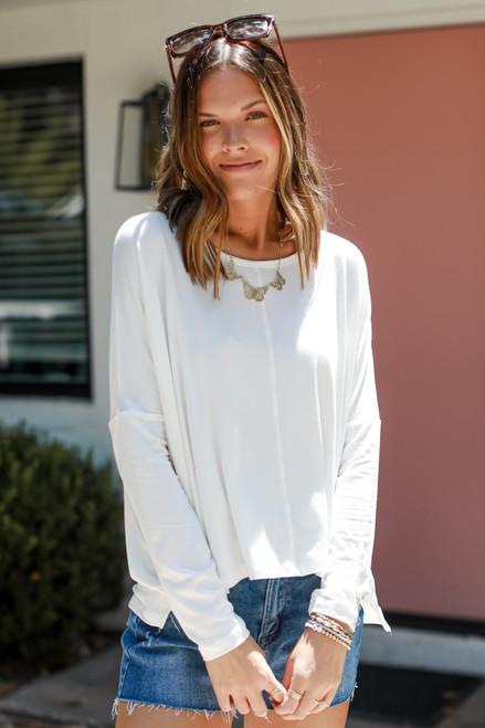 White - Everyday Long Sleeve Top