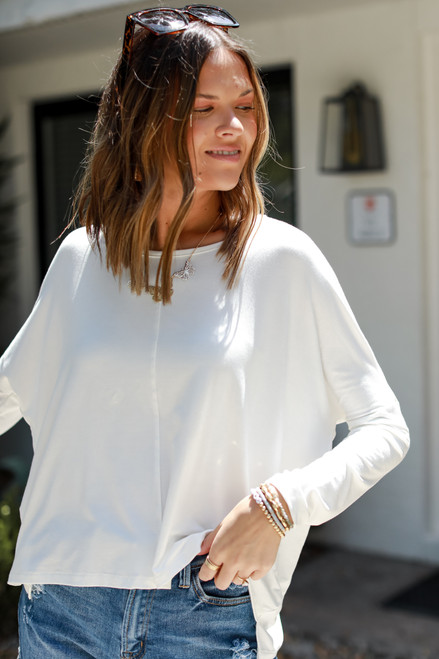 White - Everyday Long Sleeve Top from Dress Up