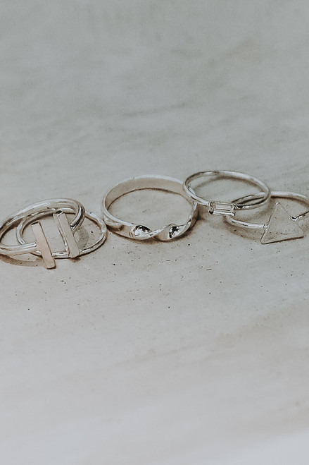 Silver - Ring Set from Dress Up