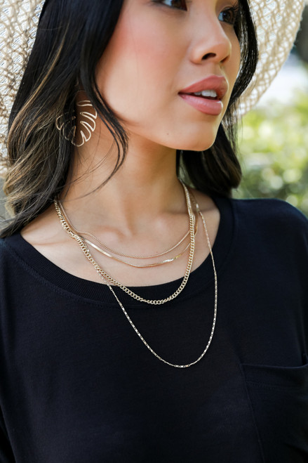 Gold - Chain Layered Necklace