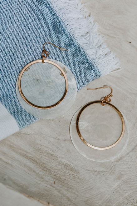 Ivory - Shell Drop Earrings from Dress Up