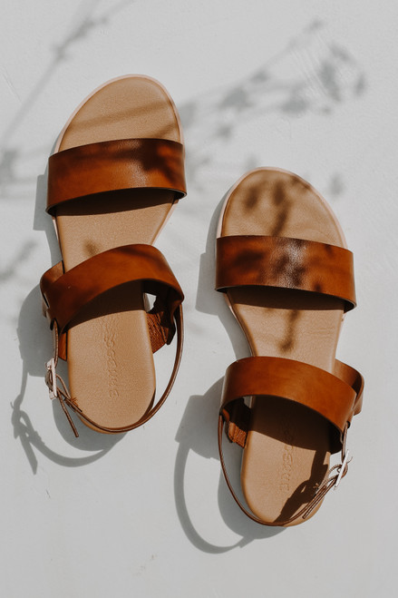 Tan - Wedge Sandals from Dress Up