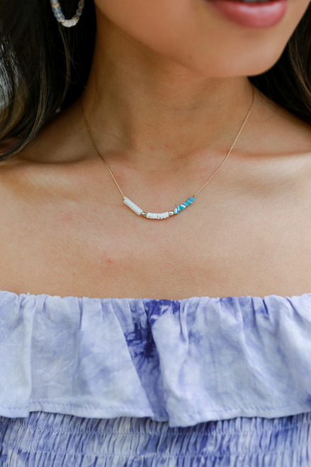 Teal - Beaded Necklace