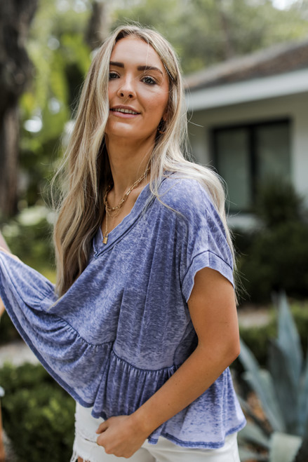 Blue - Babydoll Tee from Dress Up