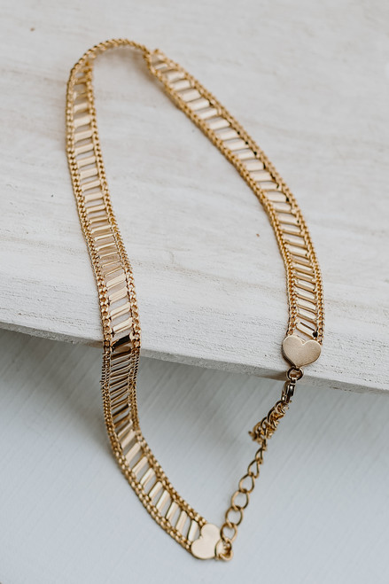 Gold - Heart Necklace from Dress Up
