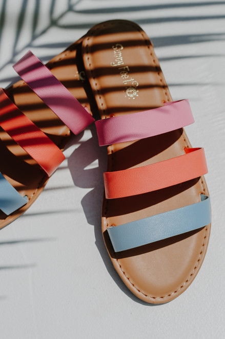 Blue - Strappy Slide Sandals from Dress Up