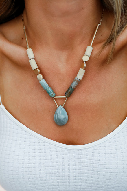 Mint - Beaded Necklace