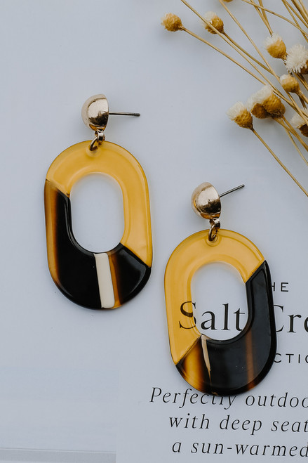 Multi - Acrylic Statement Earrings from Dress Up